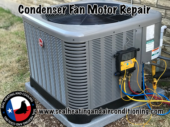 Condenser Fan Motor - Seal Heating and Air Conditioning